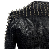 Punk Rivet Motorcycle Jacket - Skullflow