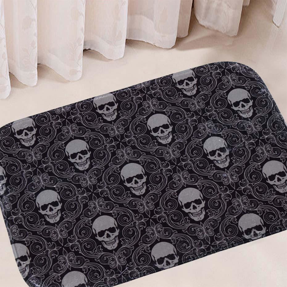 Anti-Slip Skull Pattern Carpet Rug - Skullflow