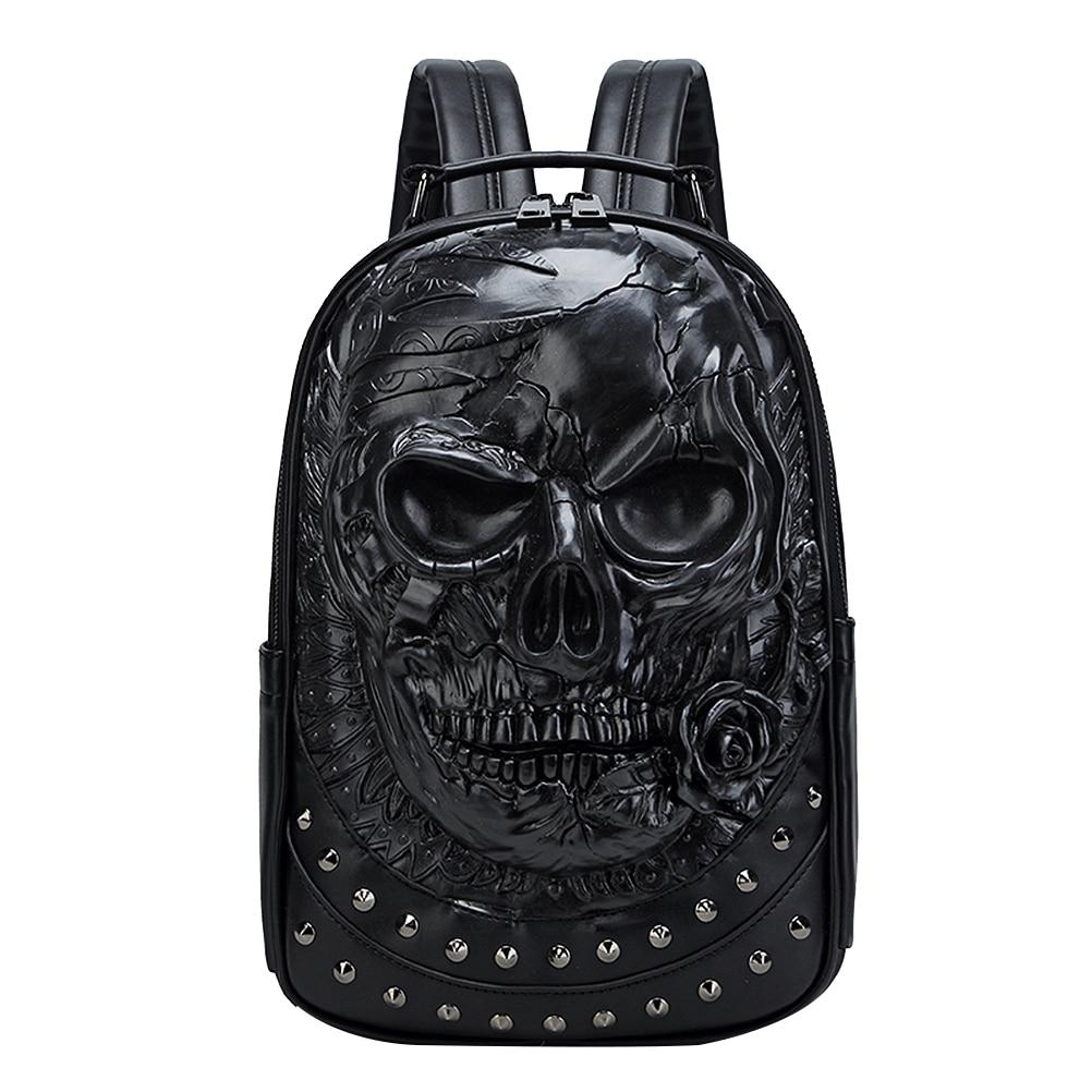 3D Embossed Skull Backpack
