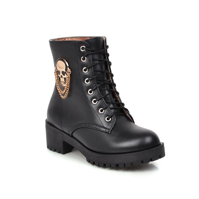 Punk Gothic Lace Up Boots