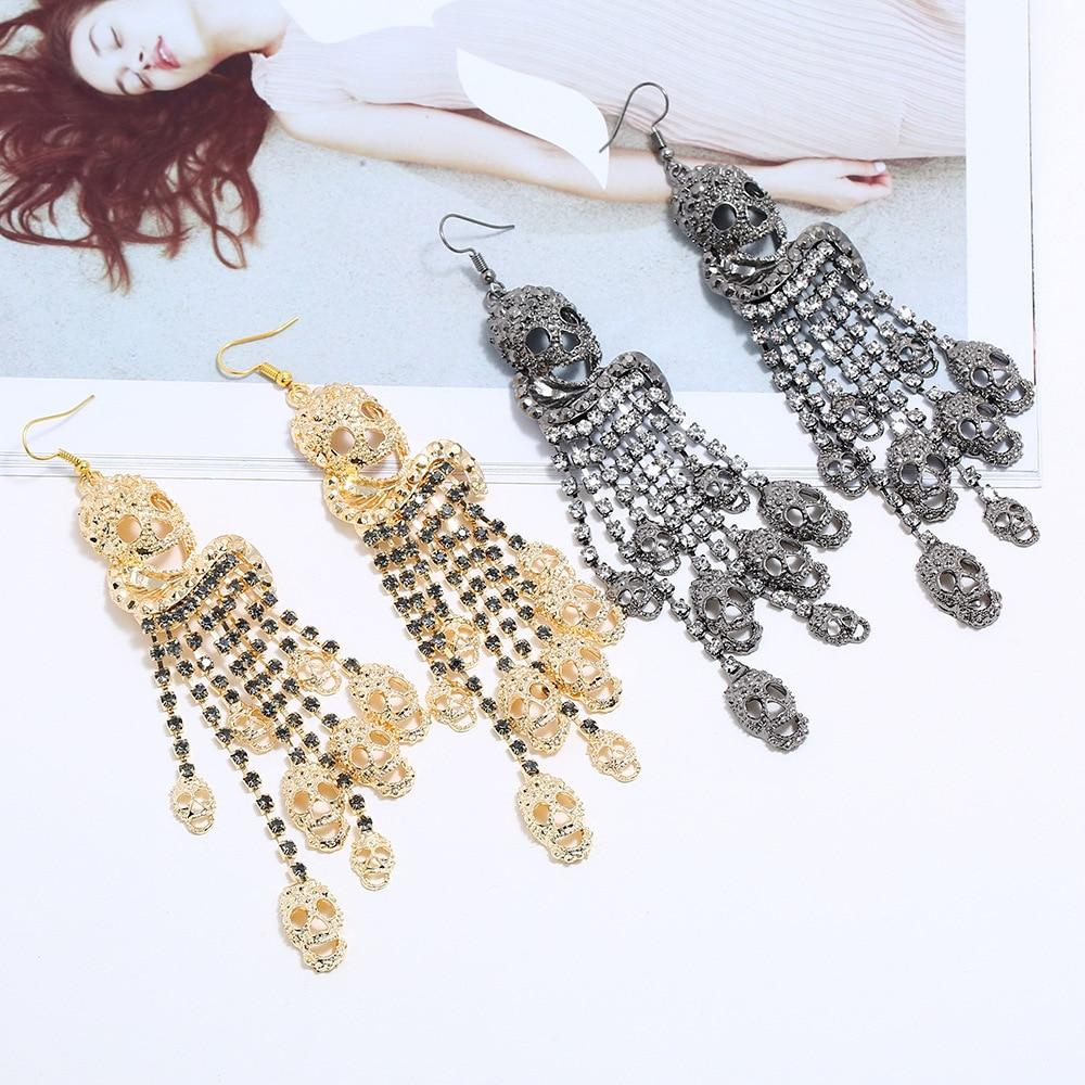 Punk Classic Style Skull Drop Earrings