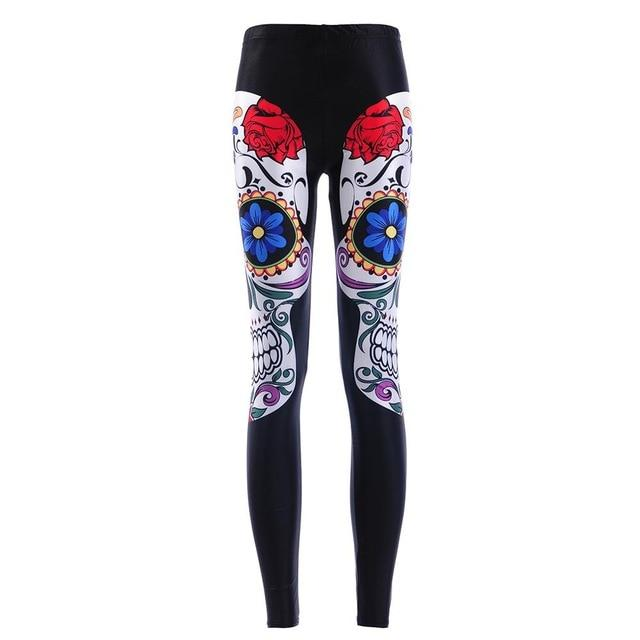 High Waist Mexican Skull Leggings