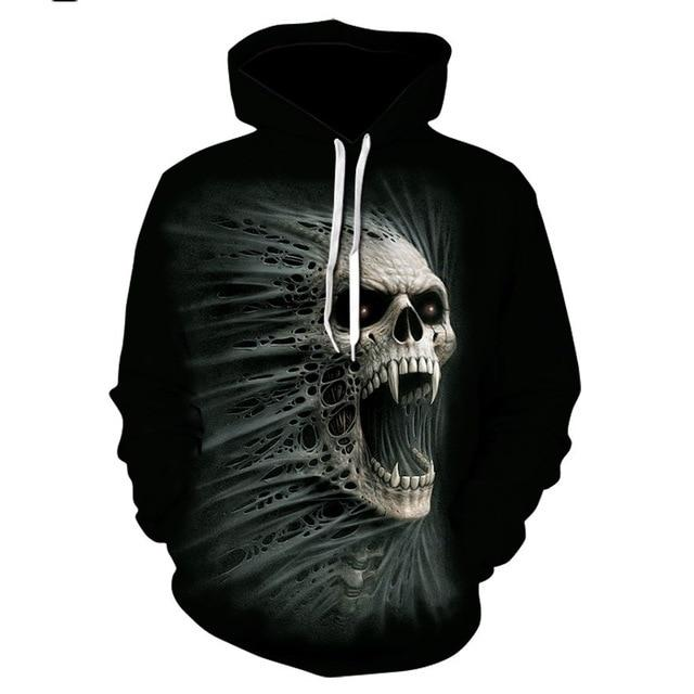 Screaming Skull Hoodie