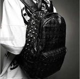 Embossed Skull Rivet Backpack