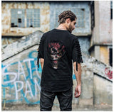 Black Skull Ripped T-Shirt