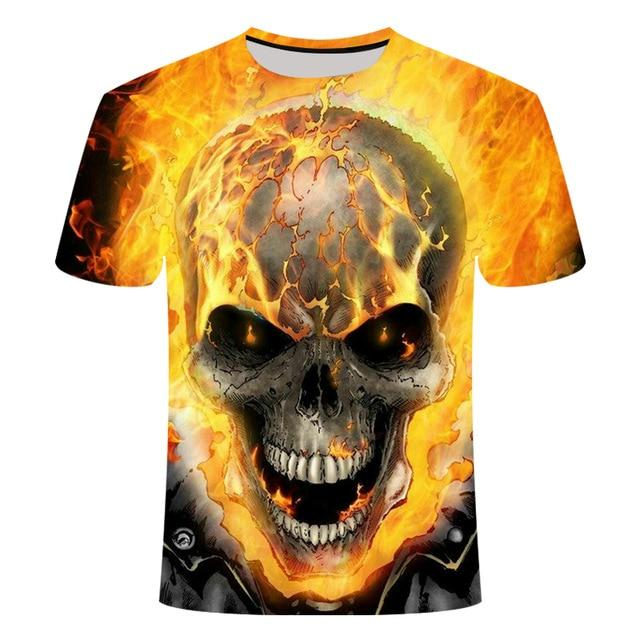 Flaming Skull T-Shirt