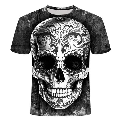 Gray Sugar Skull T-Shirt