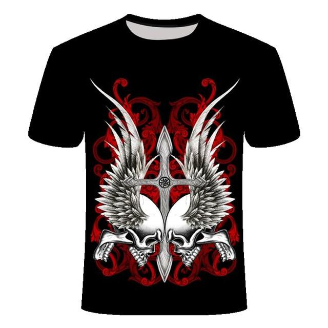 Skull Cross Wing T-Shirt