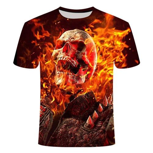 Skull On Fire T-Shirt