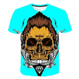 Skull Punk Colored T-Shirt