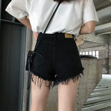 Gothic Rivet Denim Shorts