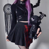 Gothic Bodycon Long Sleeve Crop Tops