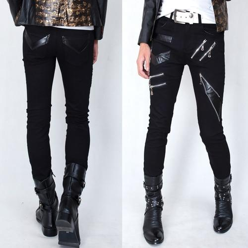 Gothic Punk Black Zippers Pants