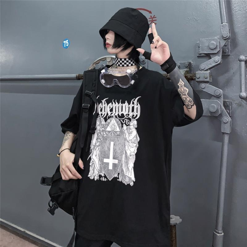 Gothic Cross Loose T-Shirt