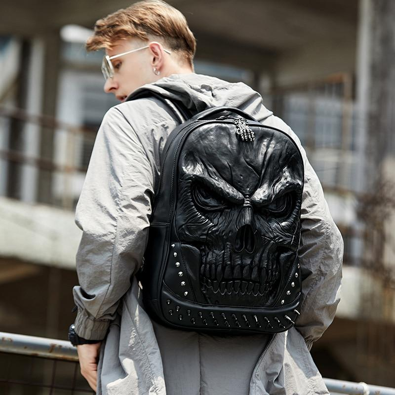 3D Punk Skull Backpack