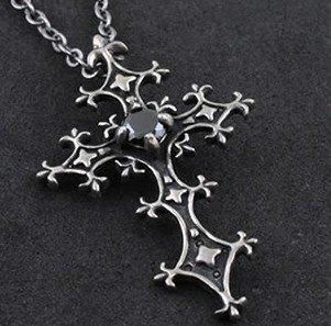 Gothic Midnight Cross Necklace