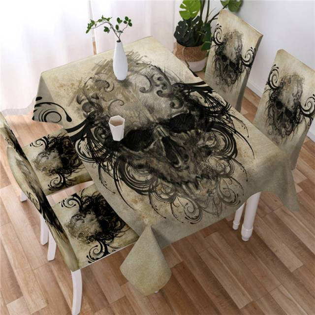 Gothic Skull Washable Table Cover