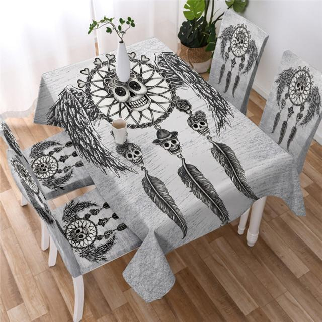 Skull Dream Catcher Washable Table Cover