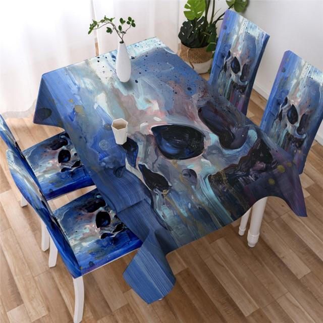 Melting Skull Washable Table Cover