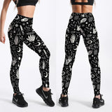 Dark Gothic Witch Fitness Leggings