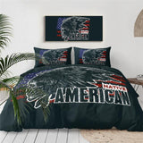 Native American Indian Cherokee Skull Bedding Set