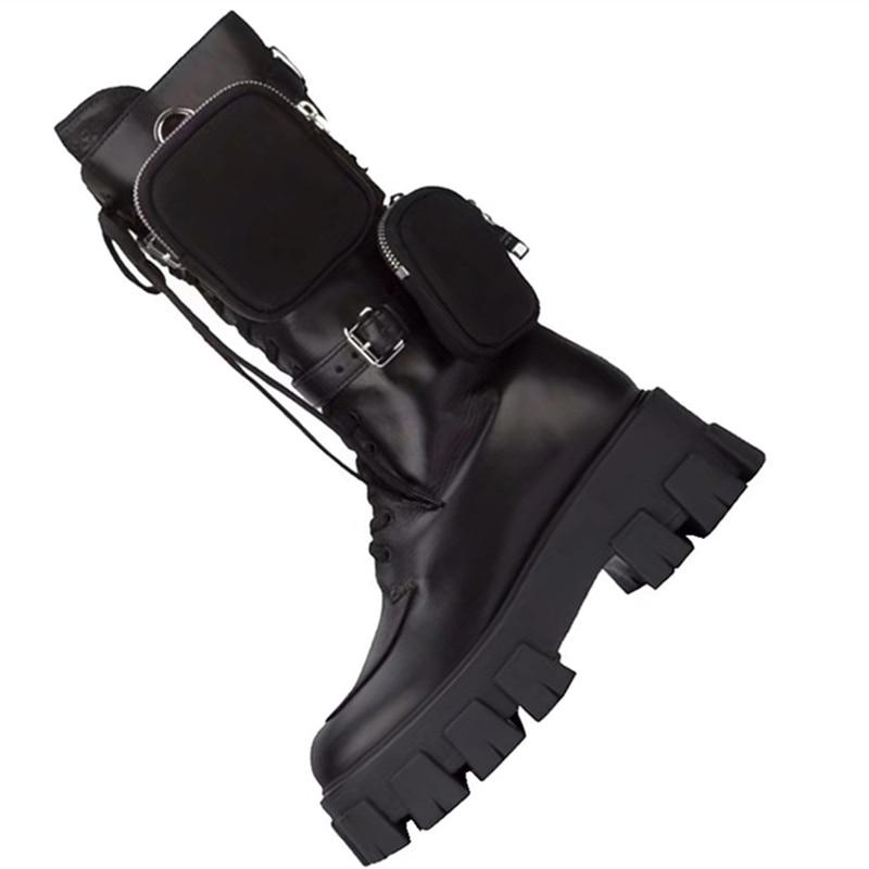 Knight Lace Up Motorcycle Boots with Pocket