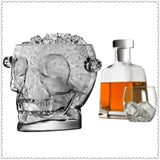 Glass Skull Head Ice Bucket - Skullflow