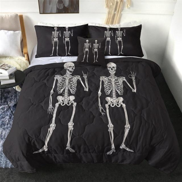 Best Friend Forever Skeleton Quilt Bedding Set