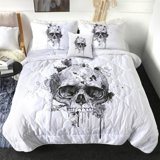 Dripping Skull Quilt Bedding Set