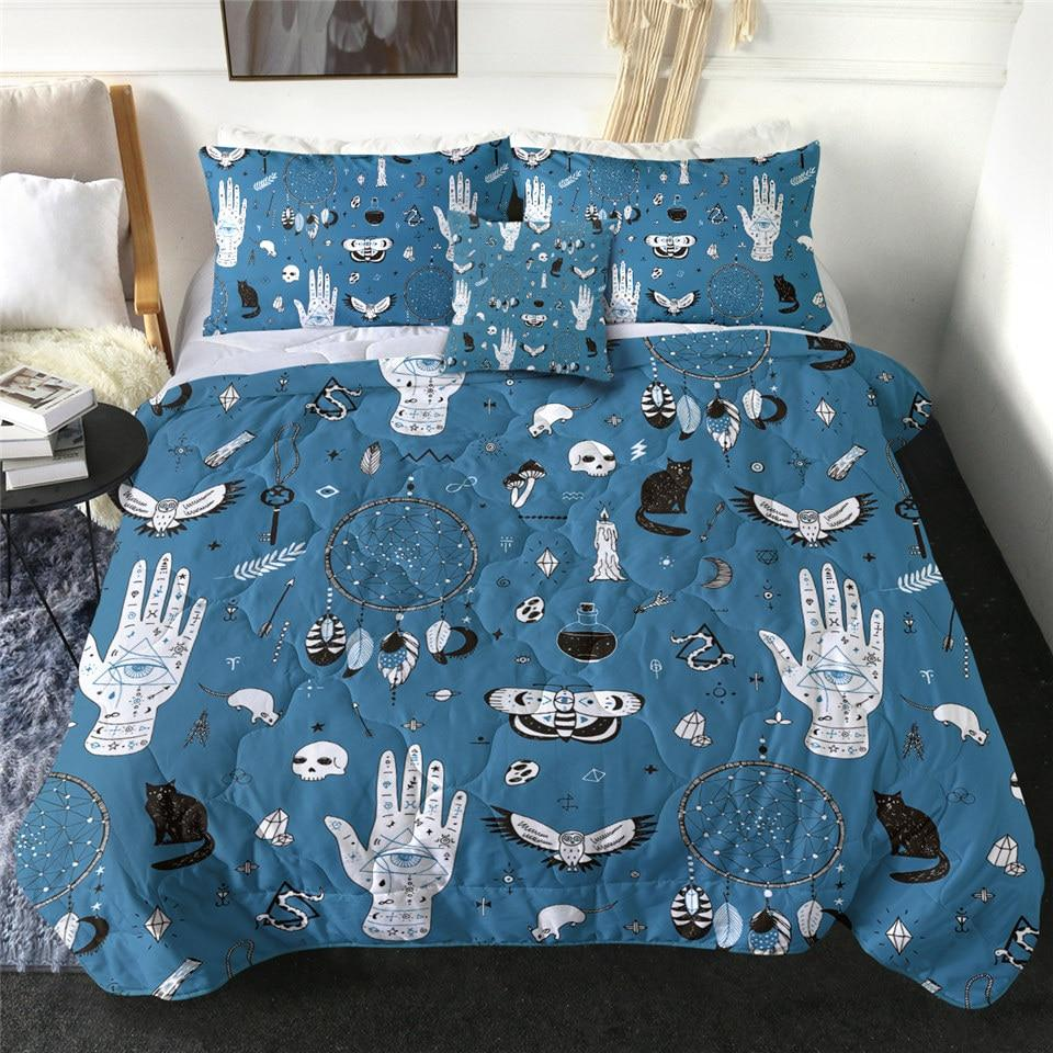 Witchcraft Magic Skull Quilt Bedding Set