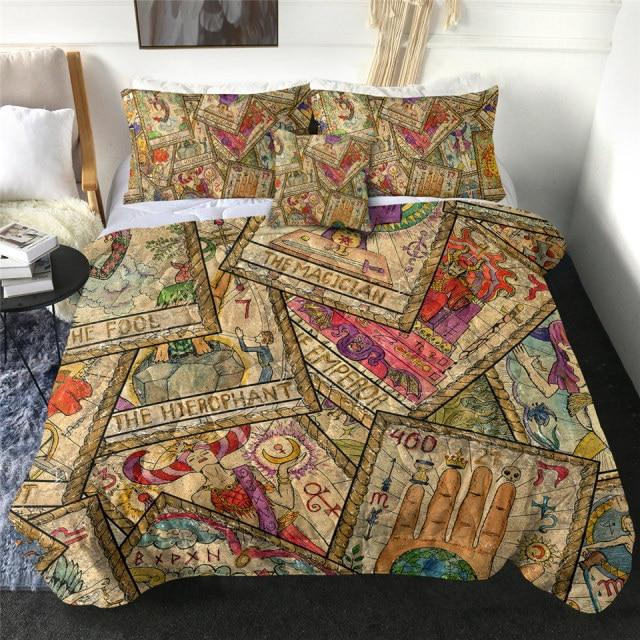 Magical Tarot Cards Quilt Bedding Set