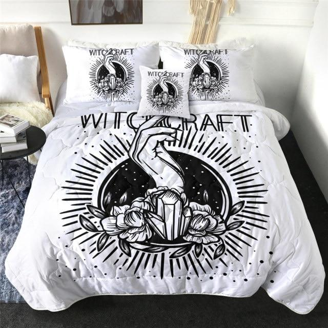 Witchcraft Magic Crystal Quilt Bedding Set