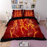 Fire Skull Bedding Set - Skullflow