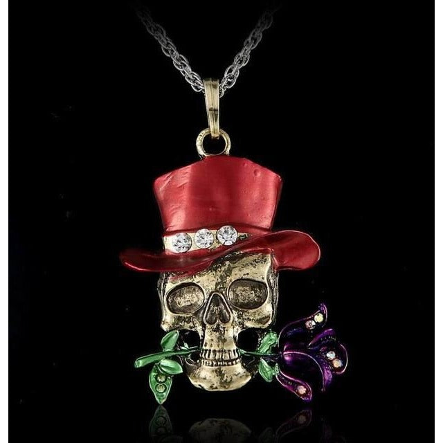 Vintage Retro Skull Necklace - Skullflow