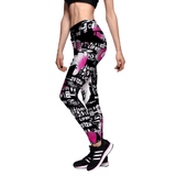 3D Lotus Skull Leggings