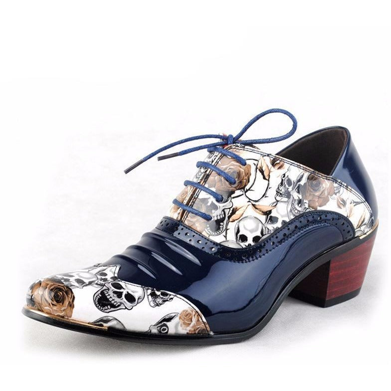 Skull Men Oxfords Style Shoes - Skullflow