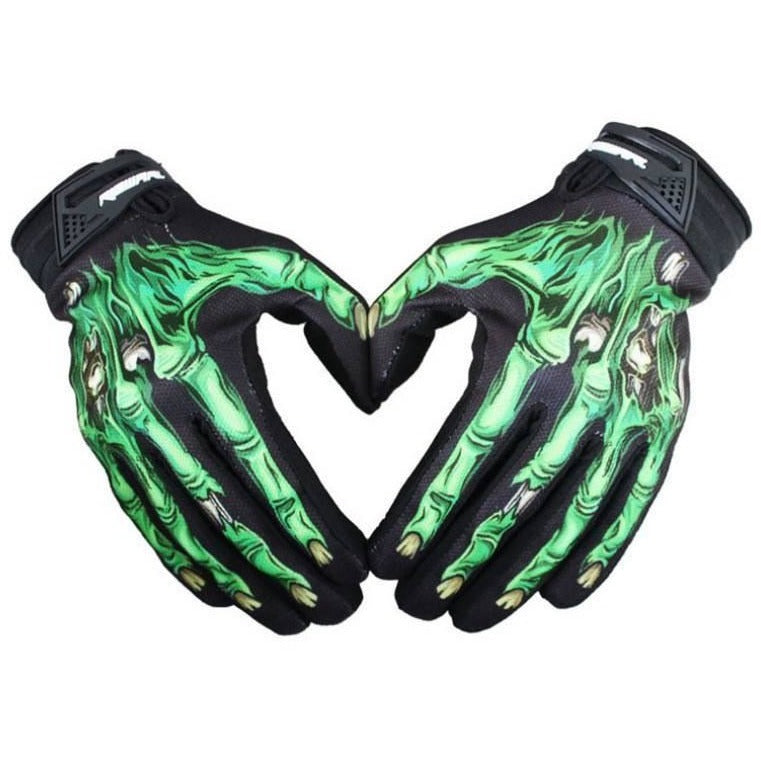Biker Motorcycle Skeleton Gloves - Skullflow