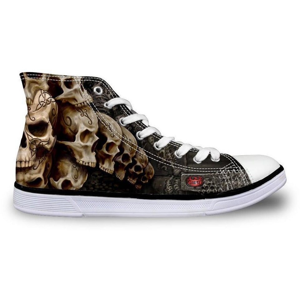 High Top Vulcanize Skull Shoe - Skullflow