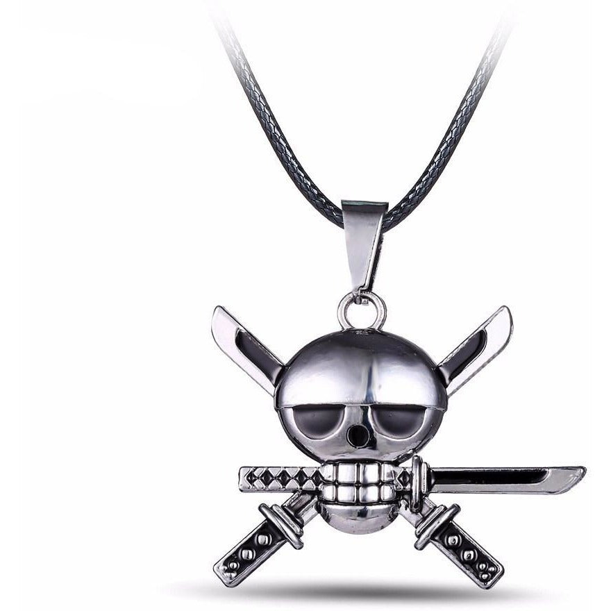 Silver Skull Alloy Necklace - Skullflow