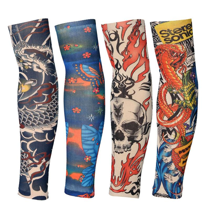 UV Block Skull Bike Arm Sleeves Warmer - Skullflow