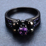 Purple Skull Ring - Skullflow