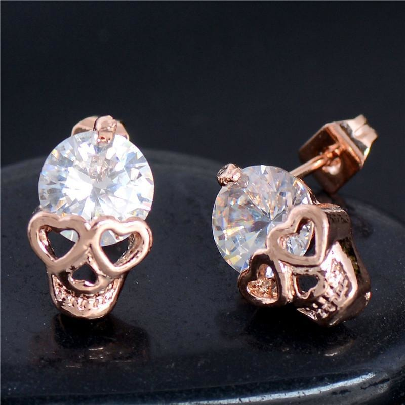 Charming Skull Head Stud Earrings - Skullflow