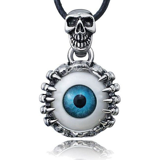 Skull Eyes Titanium Necklace - Skullflow
