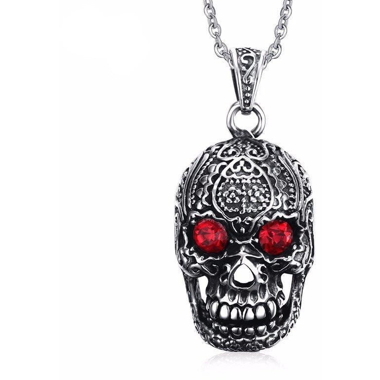 Punk Men Necklace - Skullflow