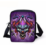 Colorful Cool Skull Messenger Bags - Skullflow