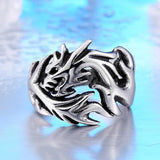Dragon Gothic Ring - Skullflow