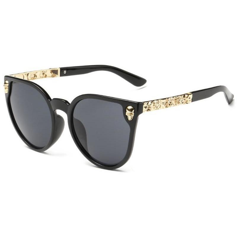 Classic Skull Cat Eye Anti-Reflective Sunglasses - Skullflow