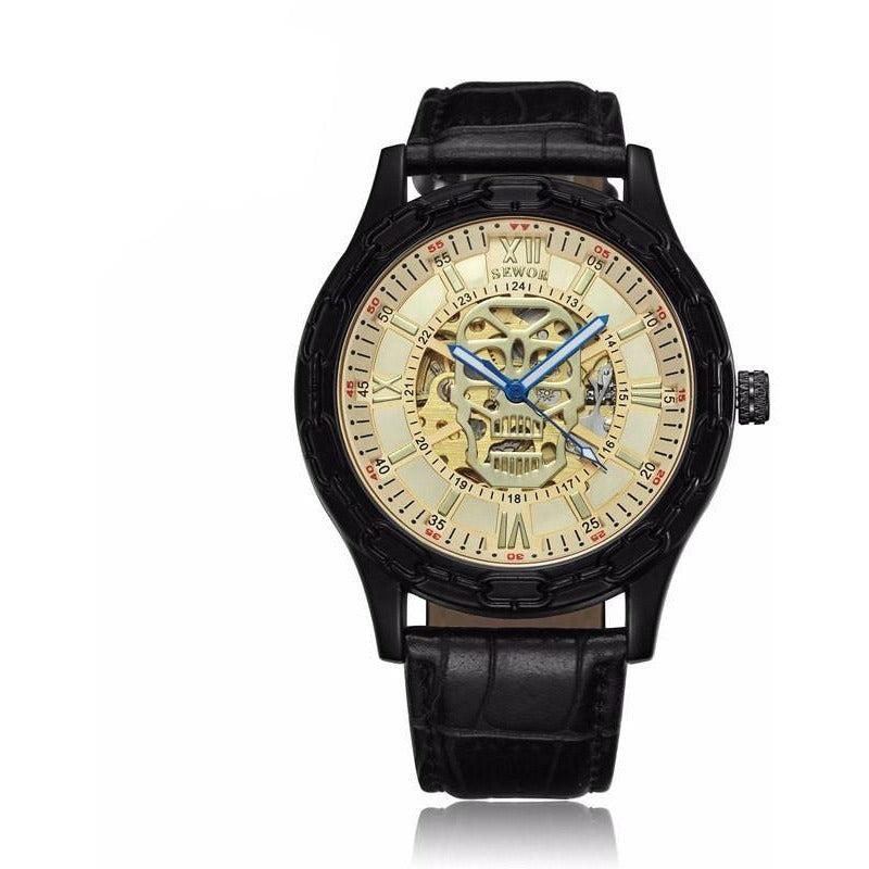 Luxury Stainless Steel Skeleton Wrist Watch - Skullflow