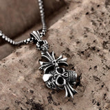 Boys Chain Silver Necklace - Skullflow