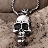 Crystal Skeleton Head Necklace - Skullflow